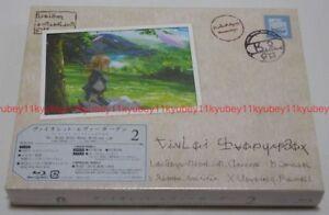 Violeta-Evergarden-Vol-2-Primera-Edicion-Limitada-Blu-ray-FOLLETO-Japon-Tarjeta-Post