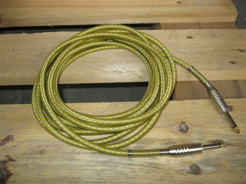 Klinke 6.3 Gitarrenkabel TKgelb TWEET KABEL 6m /_^^ gold-gelb ^^/_ GOLDTIP
