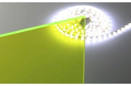 "Green Fluorescent Acrylic Plexiglass sheet 1//4/"" x 12/"" x 24/"" #9093"