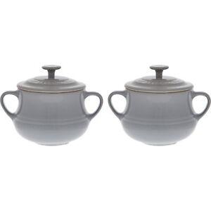 Le-Creuset-9-5cm-Light-Grey-Soup-Bowls-With-Lids