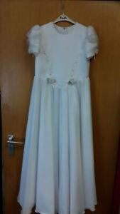 Pampolina-Kommunionkleid-weiss-Gr-152-M7-Kleid-festlich-Strass-Hochzeit