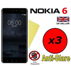3x-Hq-Matte-Anti-Reflet-Protecteur-D-039-ecran-Housse-Saver-Films-protecteurs-pour-Nokia-6