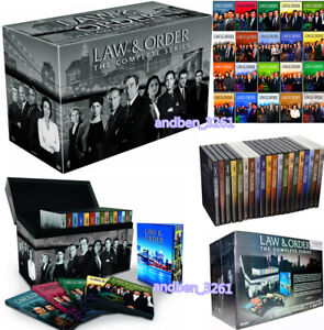 Law and Order: The Complete Series Seasons 1-20 (DVD DELUX BOX SET,104-Disc) USA