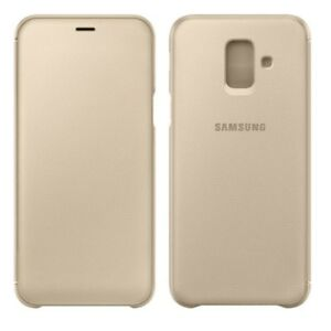 Samsung-Wallet-Cubierta-Funda-EF-WA600CFEGWW-Galaxy-A6-2018-A600F-Protectora-Oro