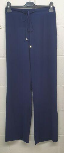 16-26 Les femmes MICHAEL CHRIS Bleu Marine Pantalon Coupe Droite À Enfiler-PLUS TAILLES