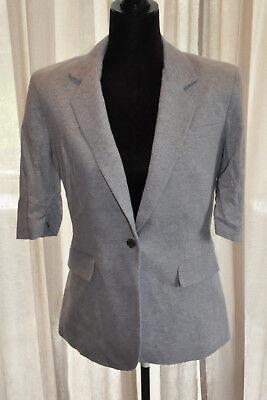 * Calvin Klein * Grigio Morbido Jersey A Maniche Corte Giacca M (uk14)-mostra Il Titolo Originale