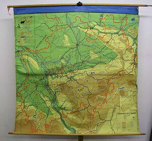 Nordrhein Westfalen Karte.Details Zu Schulwandkarte Wandkarte Rollkarte Karte Nordrhein Westfalen Nrw 171x170cm 1960