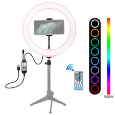 10.2 RGB LED Ring Light With Stand Dimmable LED Lighting Makeup Youtube Video