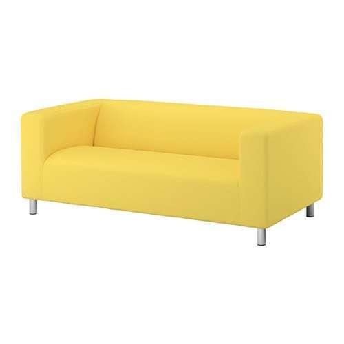 New Ikea KLIPPAN  COVER  for 2 seat sofa  in Vissle yellow..Original Ikea cover