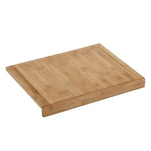 Details About Vonshef Large Bamboo Wooden Food Cutting Chopping Board With Counter Edge