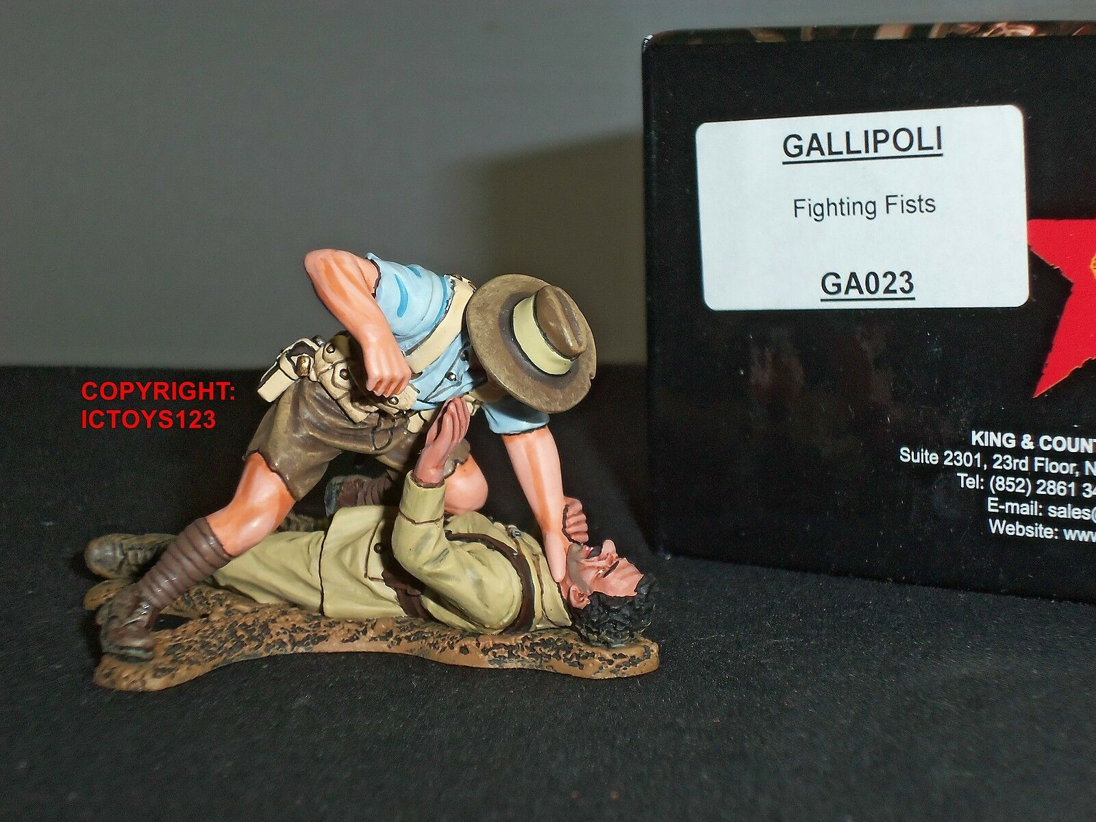 KING AND COUNTRY GA023 GALLIPOLI ANZACS FIGHTING FISTS METAL TOY SOLDIER SET