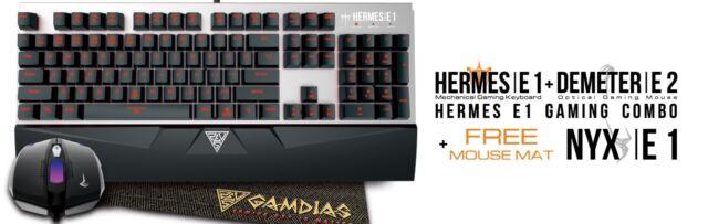 ️274577 - Gamdias Hermes E1 Combo Tastiera Gaming USB Meccanica ...