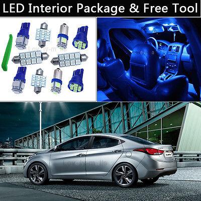 8PCS White LED Interior Car Lights Package kit Fit 2011-2015 Hyundai Elantra J1