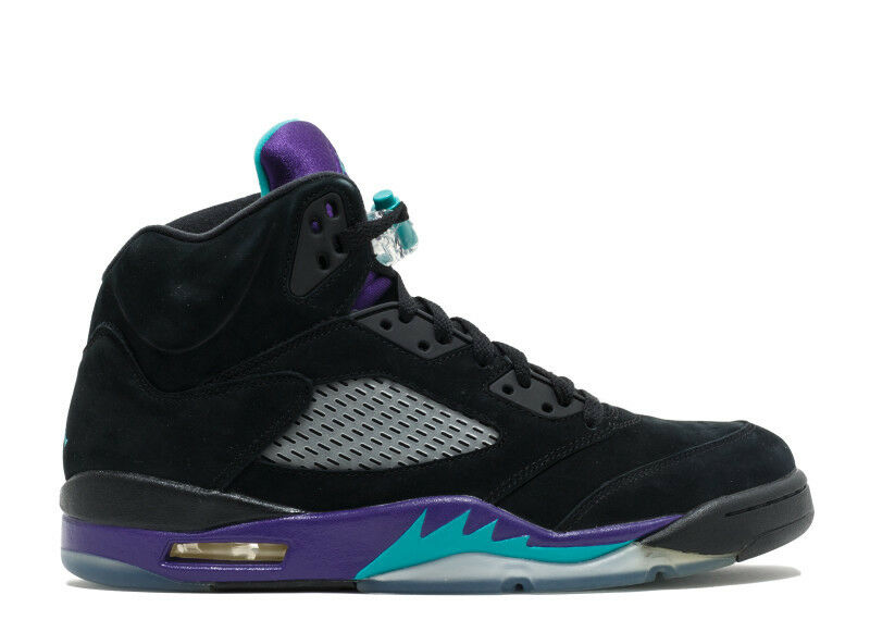2013 Nike Air Jordan 5 V Retro Black Grape Size 14. 136027-007 1 2 3 4 6