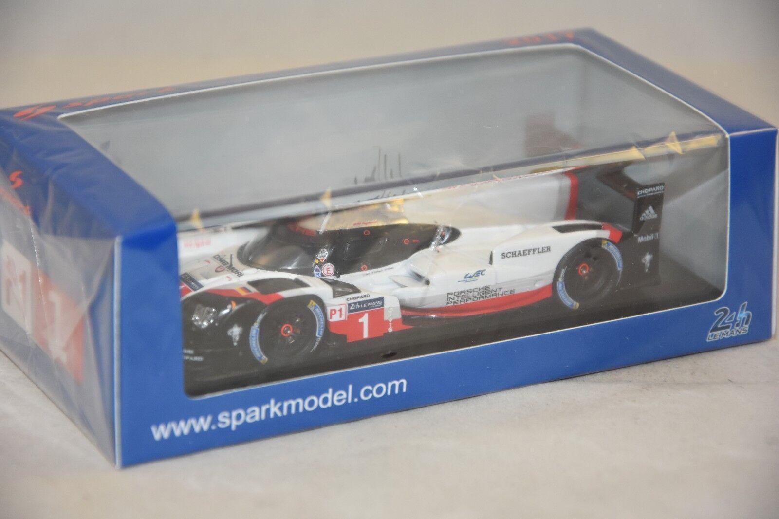Spark S5801 - PORSCHE 919 Hybrid N 1 Porsche LMP Team - 24H Le Mans 2017 1/43