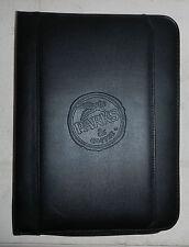 Parks Amp Coffee Company Logo Leeds Leather Zippered Padfolio Notebook Binder