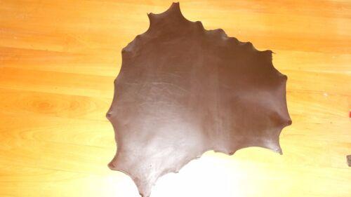 DARK BROWN Kangaroo leather VEG TANNED 750 mm x 800 mm craft lace falcon bag