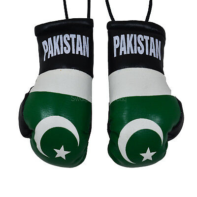 NEW PAKISTAN COUNTRY FLAG MINI BOXING GLOVES .