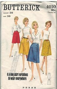 4010-Vintage-Butterick-Sewing-Pattern-Misses-Back-Zipped-A-Line-Skirt-Pleated-28