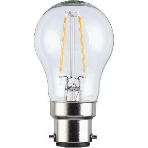 DEL Filament Mini Globe Ampoule B15//SBC baïonnette Homebase