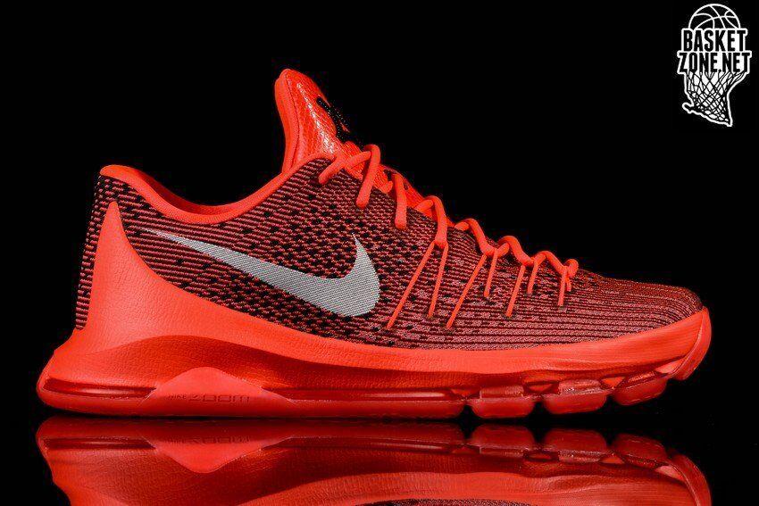 Nike KD 8 Bright Crimson Red Comfortable Casual wild