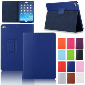 For-New-iPad-9-7-2018-6th-Gen-2017-5th-Leather-Flip-Case-Smart-Foldable-Stand