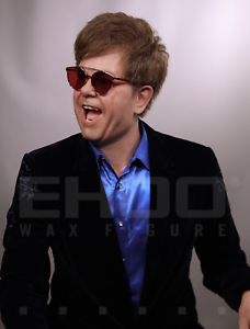 Life Size Elton John Music Movie Prop Wax Statue Realistic Display Figure 1:1