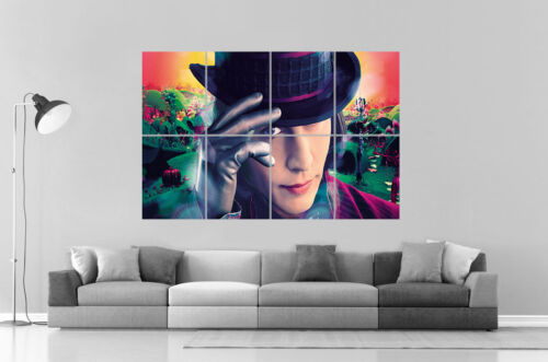 TIM BURTON WILLY WONKA Wall Art Poster Grand format A0 Large Print