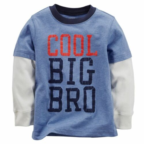 NWT Carter/'s COOL BIG BRO BROTHER Blue White long sleeve TOP SHIRT size 3T 4T 5T