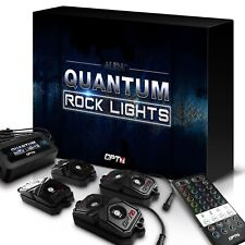 OPT7 Quantum 4PC RGBW LED MultiColor Offroad Rock Lights Jeep Truck