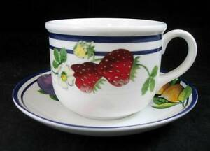 Lenox-FRUIT-GROVES-Cup-amp-Saucer-GREAT-CONDITION