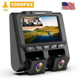 TOGUARD-Uber-Dual-Dash-Cam-FHD-1080P-1080P-Car-Camera-340-Dashboard-DVR-Camera