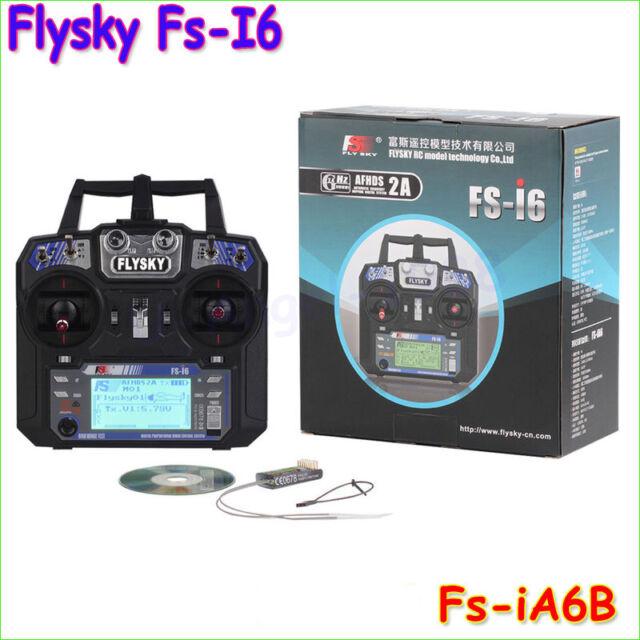 Flysky FS-i6 FS I6 2.4G 6ch RC Transmitter Controller w & FS-iA6B Receiver