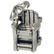 Sterling Silver Reller Lifeguard Chair with Umbrella Bead Charm 13466
