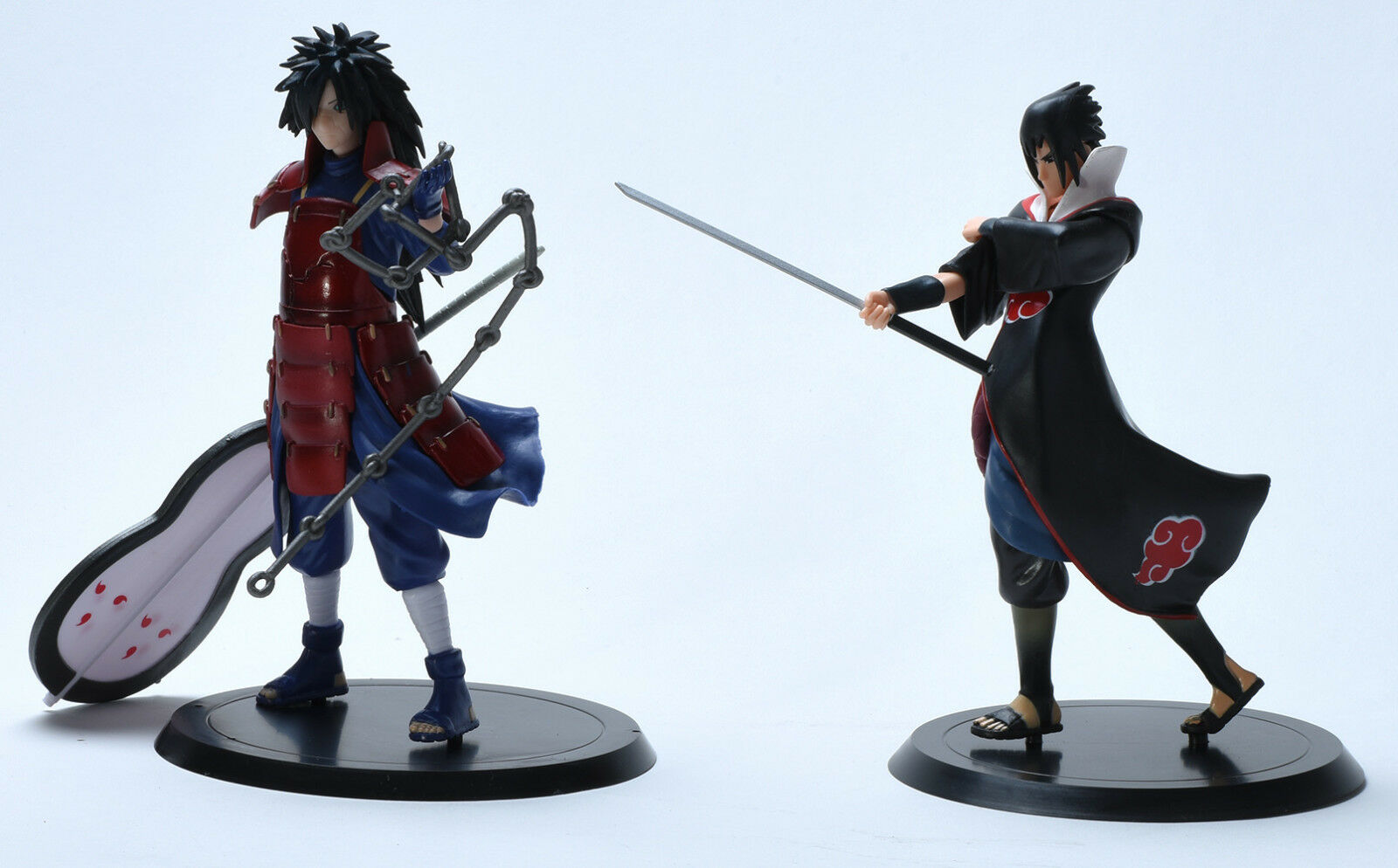Naruto Uchiha Sasuke Madara 2 Pcs Pcv Action Figures Set 7 Figure Inches Tall Each Ship From Usa