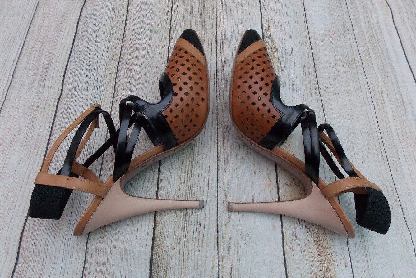 GIUSEPPE ZANOTTI FOR VIONNET CUT OUT ANKLE STRAP PUMPS>BN>GENUINE>£550>7>SHOES>