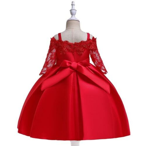 Girl Dresses Flower Tutu Party Princess Dress Formal Bridesmaid Kid Wedding Baby