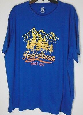 NWT Mens Field /& Stream Orange Graphic T Shirt Sz 2XL XXL $30