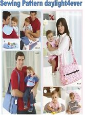 Baby Diaper Bag Bib Burp Cloth Changing Pad Pillow Sewing Pattern 2924 New #r