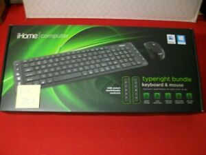 BRAND NEW iHOME TYPERIGHT BUNDLE-KEYBOARD & MOUSE W/ SIDE PANEL MEDIA CONTROLS