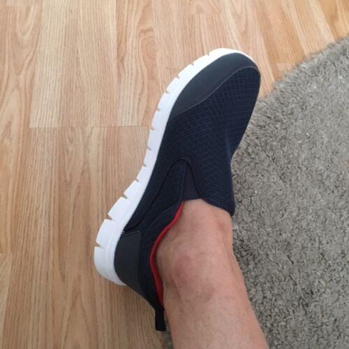 Mens Navy Orthopaedic Diabetic Shock Absorb Light Retro Cross Trainer Shoe Size