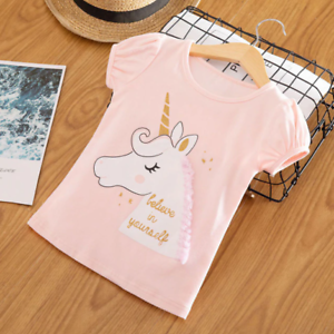 Kids Girl T Shirt Baby Girls Cotton Tops Toddler Tees Clothes Children Clothing