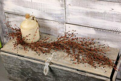 "country farmhouse rustic cabin decor primitive Ivory white Pip Berry 48/"" GARLAND"
