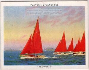 034-Prawn-034-Redwing-Class-Racing-Dinghy-Bermudan-Sloop-Sailboat-1930s-Trade-Ad-Card