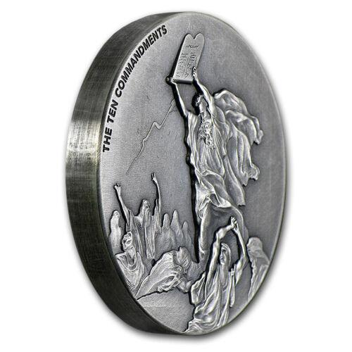 - SKU #91697 Biblical Series Ten Commandments 2015 2 oz Silver Coin