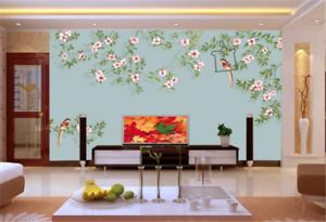 3D Green Foliage Flower 63 Wallpaper Mural Paper Wall Print Wallpaper Murals UK