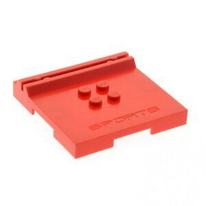 1-x-Lego-System-Fliese-Platte-Karten-Figuren-Halter-rot-6x6x2-3-mit-4-Noppen-Spo