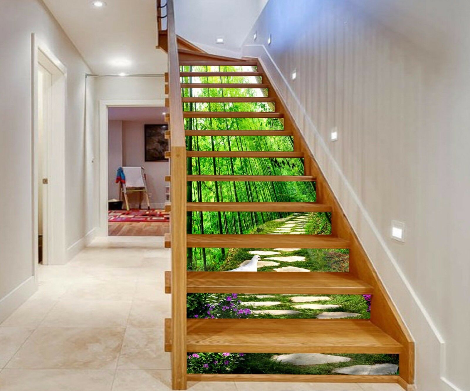 3D Fresh Forest 763 Stair Risers Decoration Photo Mural Vinyl Decal Wallpaper AU