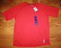 Mens Reebok Playdry Poly/spandex Red Crew Neck Short Sleeve T-shirt 3xl Xxxl