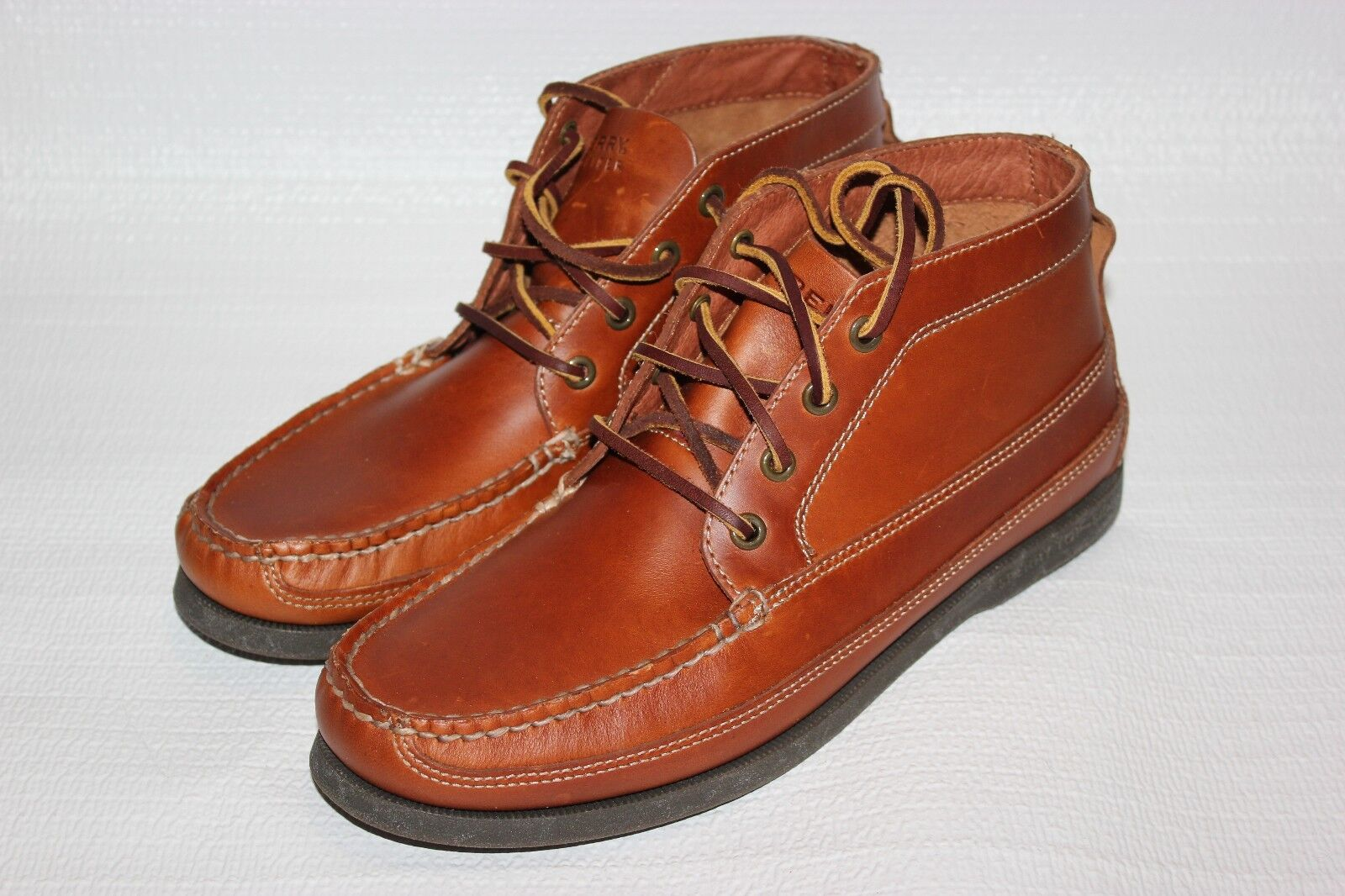 NEW Sperry for J.Crew Leather Chukka Boots  Brown Shoes Size 8.5 M